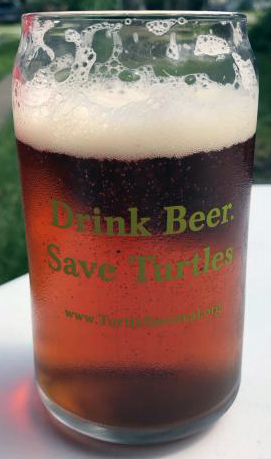 Drink Beer. Save Turtles. Pint Glass.  Click image to go to item on TSA Store.