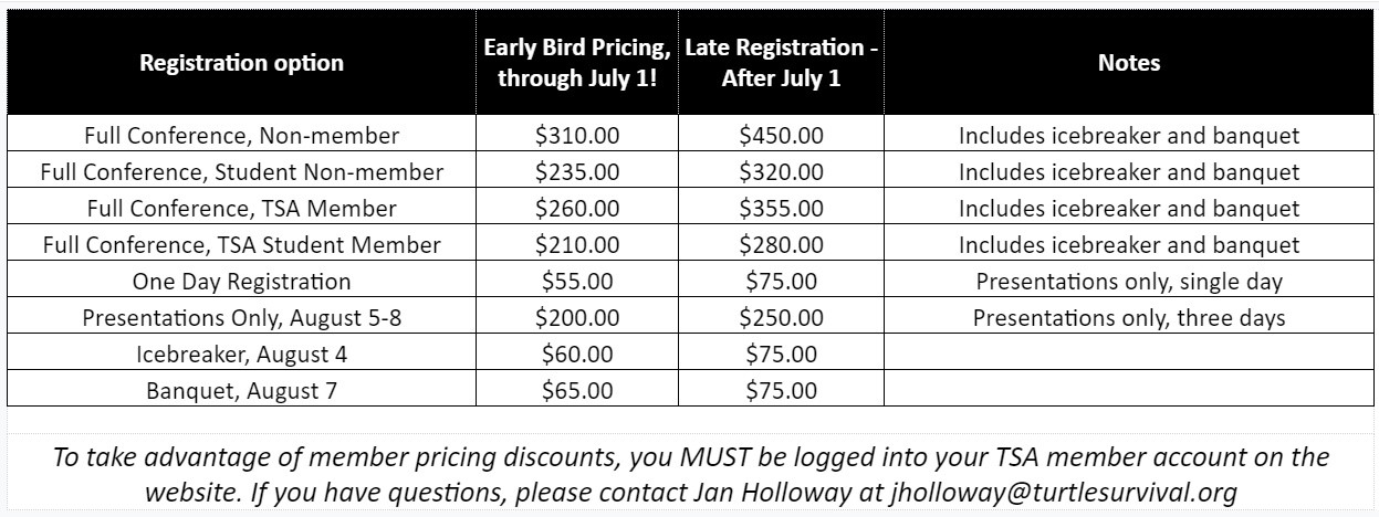 2019 Symposium Registration Pricing