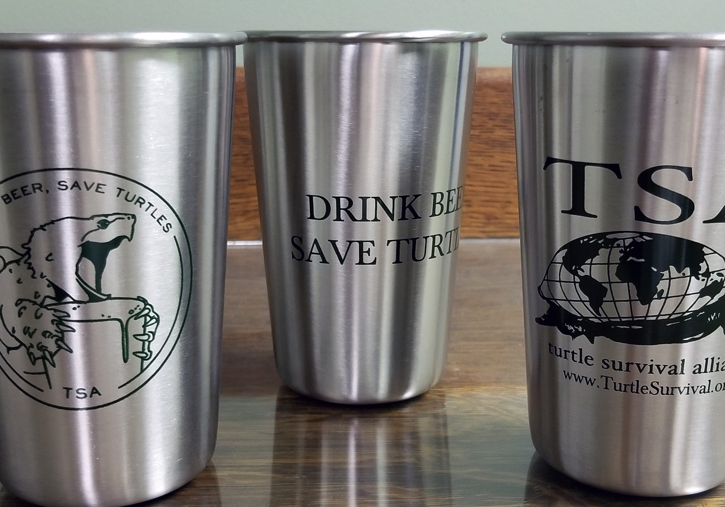 Drink Beer. Save Turtles. Stainless Beer Cup. Two Styles.  Click image to go to item on TSA Store.